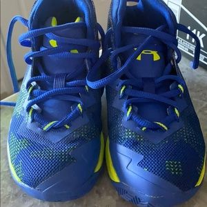 Brand New Blue and yellow Under Armour shoes
